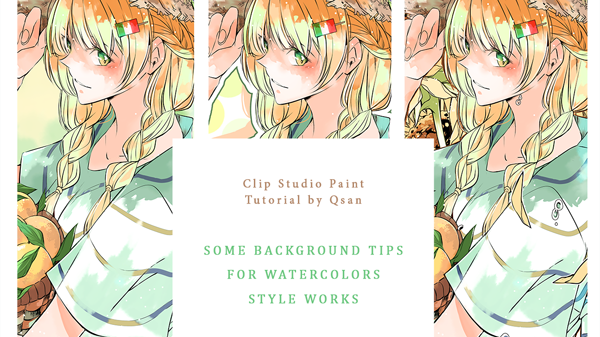 Simple Backgrounds for Watercolor-Style Art