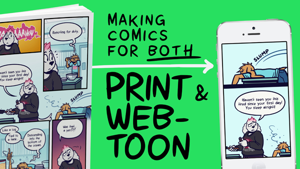 Making Comics for both Print and Webtoon