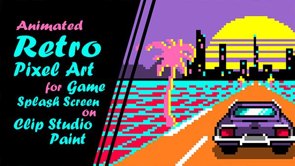 Pixel Art animé de type jeux rétro