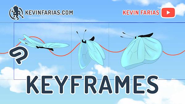 キーフレームと2Dカメラを使った羽ばたきアニメーション