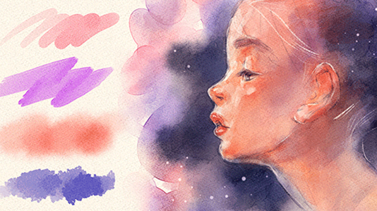 How to Use the Realistic Watercolor Brushes