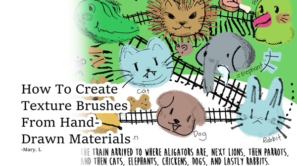 Create Textured Brushes With Hand-Drawn Materials