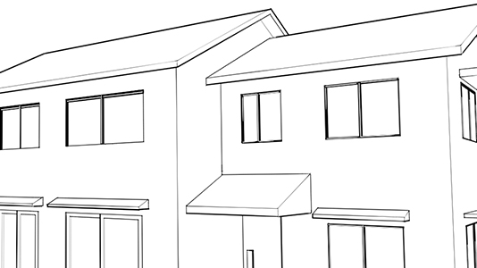 Using the Perspective Ruler to Draw Buildings
