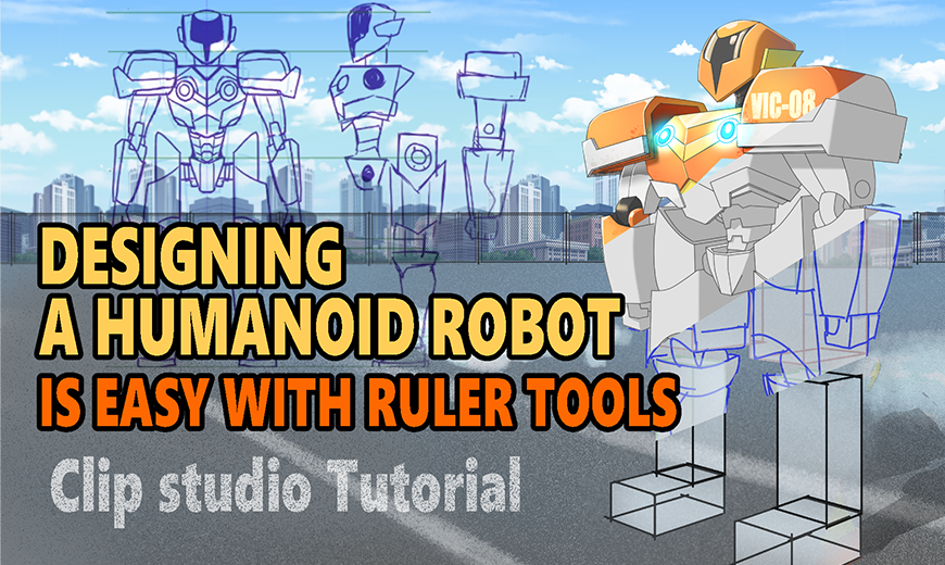 Designing a humanoid robot is easy with ruler tools by viciaia