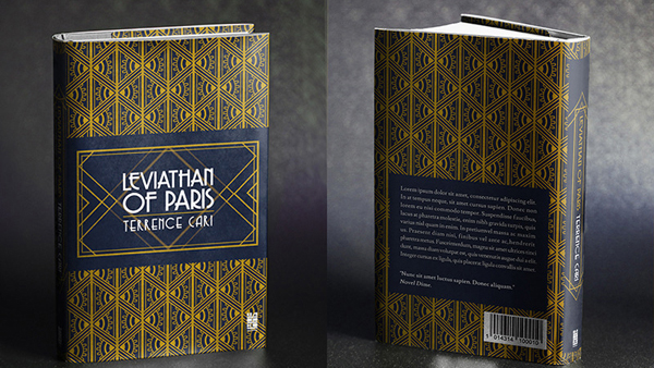 Book Cover Design with Text & Patterns