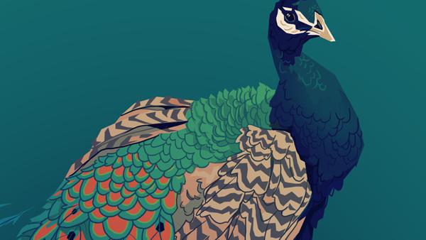 Drawing a Peacock with the Polyline Select Tool