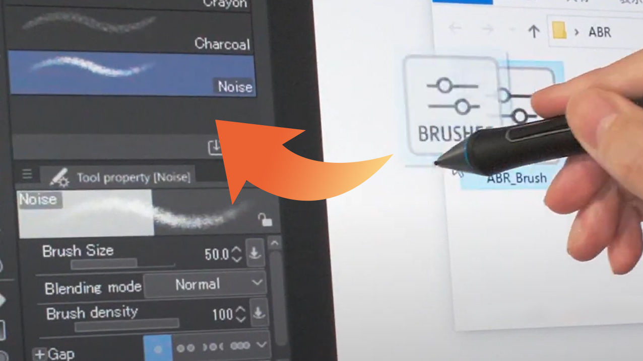 Along with new brush settings, Photoshop brushes can now be imported -Ver. 1.10.5-