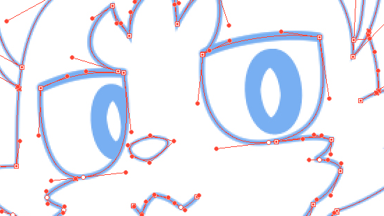 Freely adjusting the line! Draw on a vector layer
