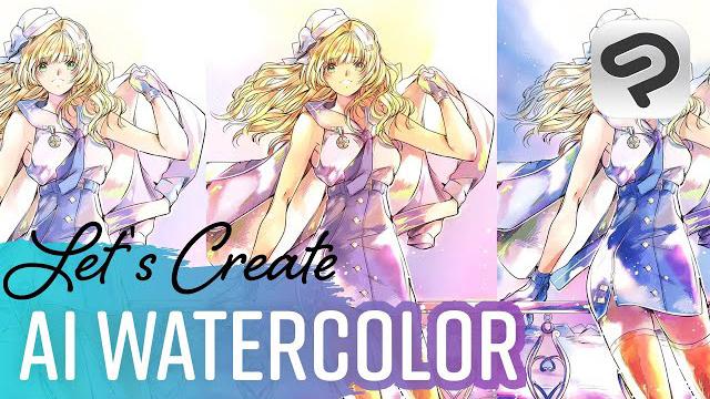 AI watercolors for illustrations!   Qsan
