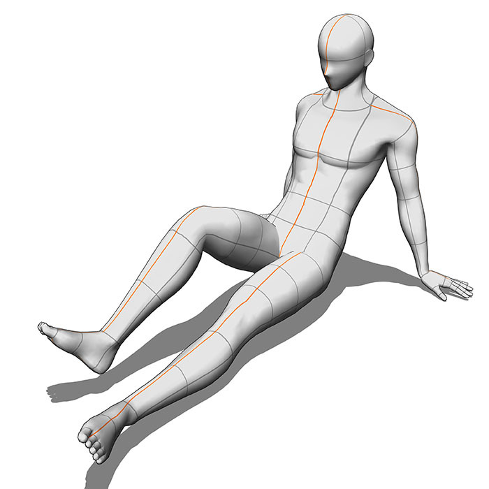 "Using 3D Drawing Figures: Adjusting the Body Shape ""3D"