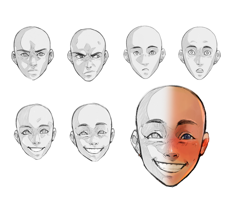 Facial Expressions By Raquelarellano Clip Studio Tips