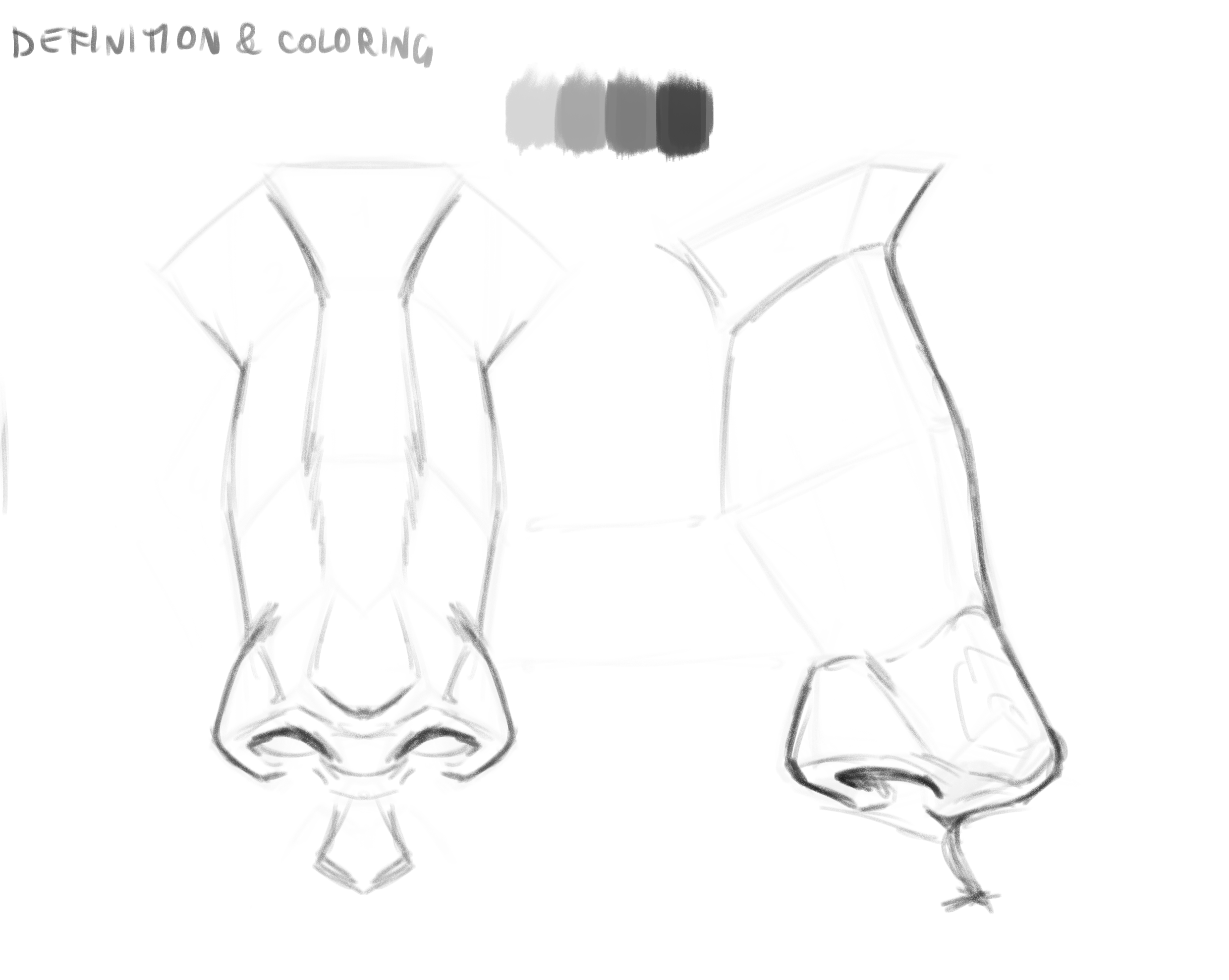 How To Draw And Shade A Nose Videotutorial By Akylha Clip Studio Tips