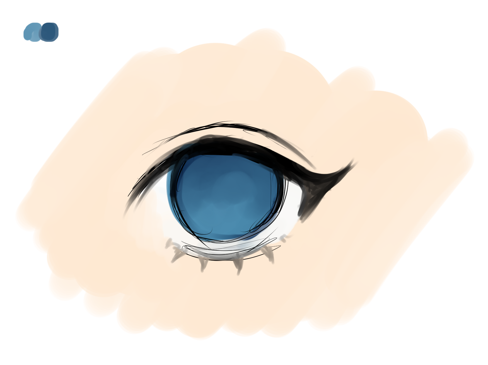 Creating An Anime Eye Step By Step Using Clip Studio Paint By