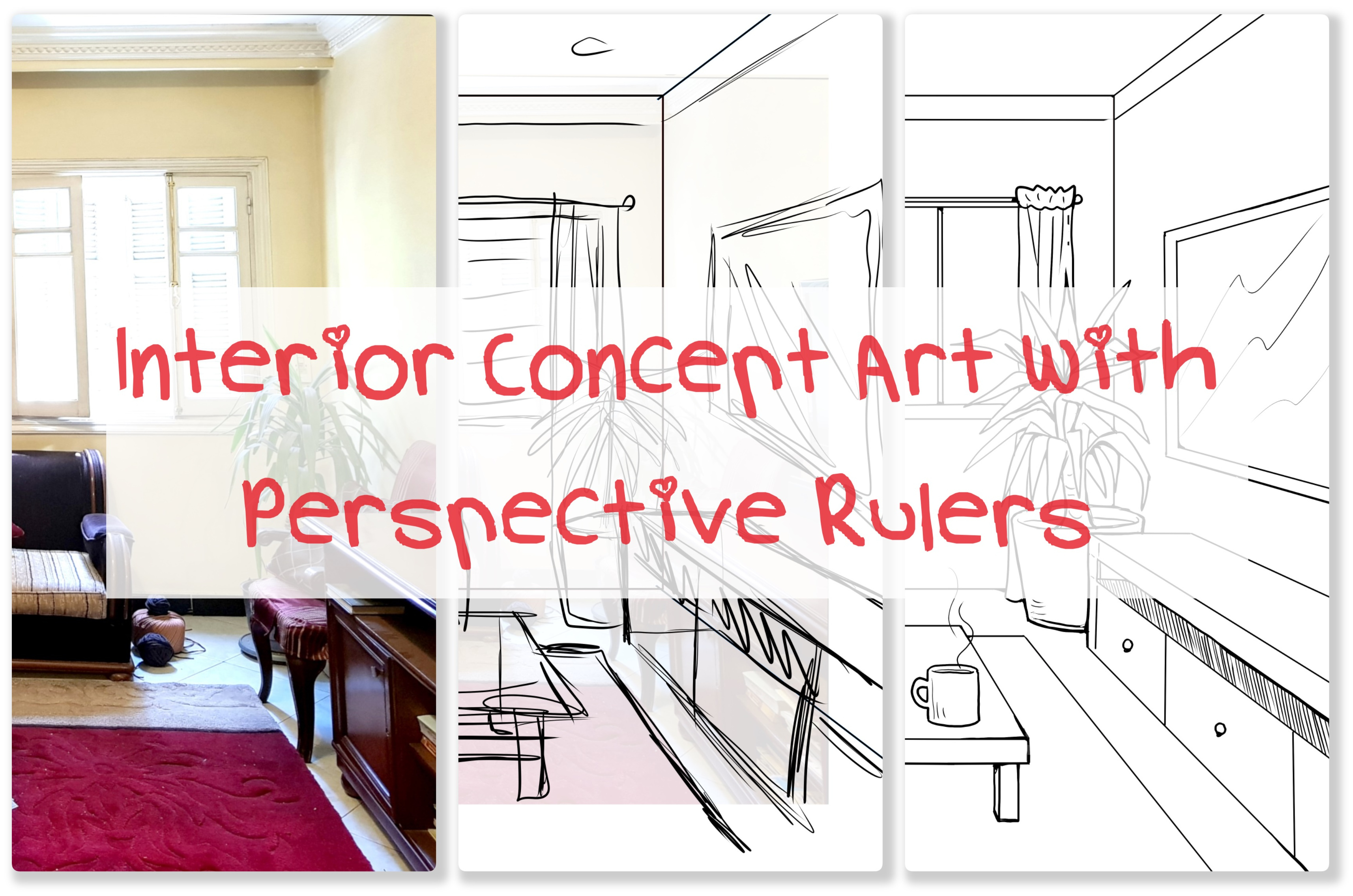 Interior Concept Art With Perspective Rulers Yampuff S Clipstudio Tutorials 1 By Yampuff Clip Studio Tips