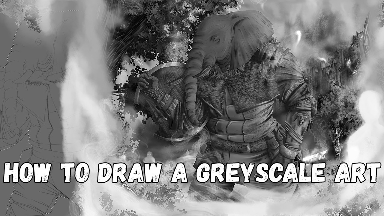 How To Draw A Greyscale Art By Nickolskiy Clip Studio Tips