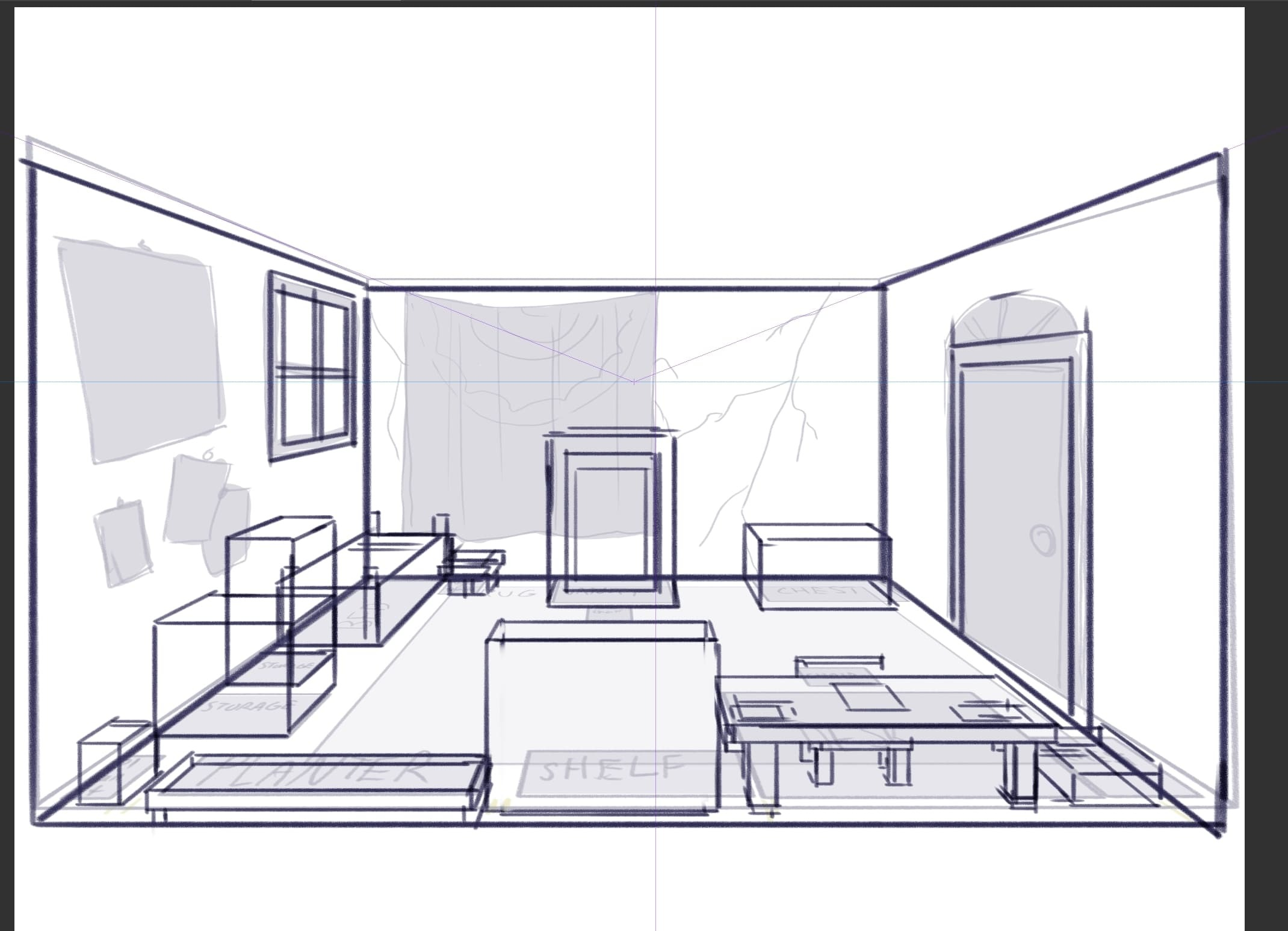 Drawing A Room From Multiple Angles By Vampbyte Clip Studio Tips