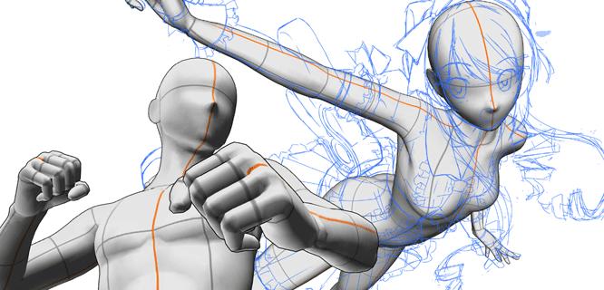 使用3D素描人偶挑戰角度和體型困難的作畫 「務必嘗試的CLIP STUDIO PAINT推薦功能 #8」 by ...