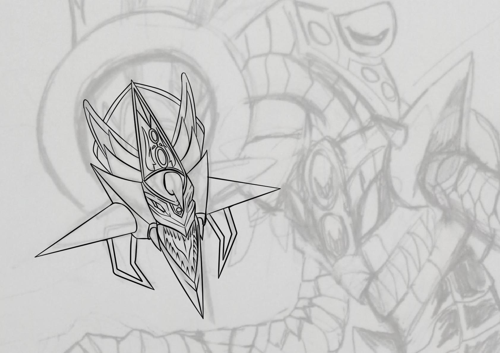 Dessin Ange Realiste monstre du messager du chaos dragon léger et sombre