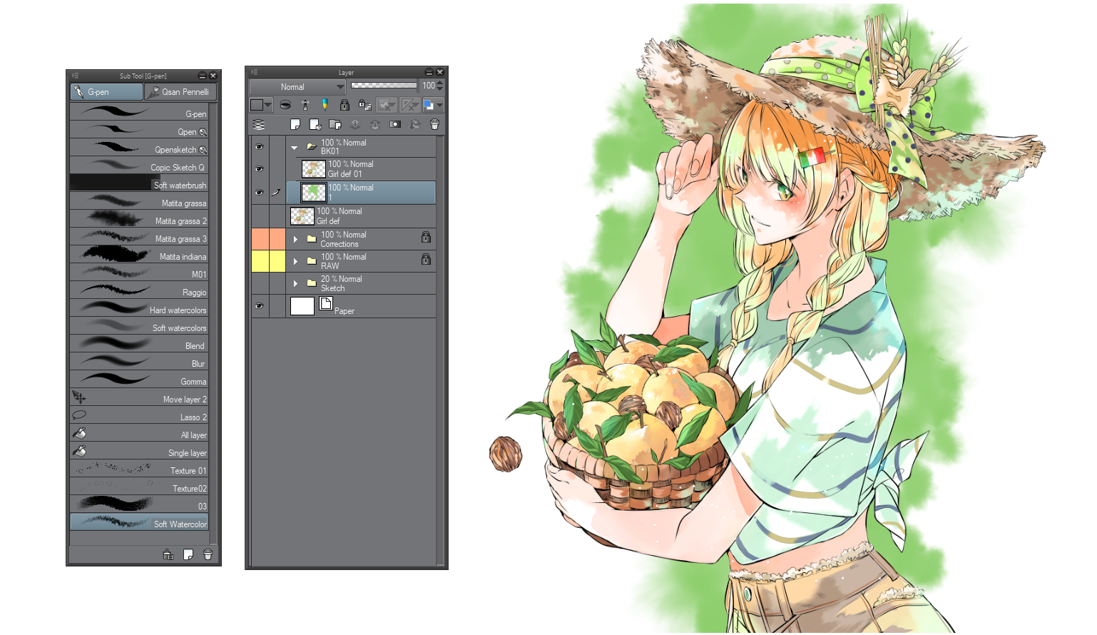"""Some background tips for watercolors style works  """"Tips #1"""
