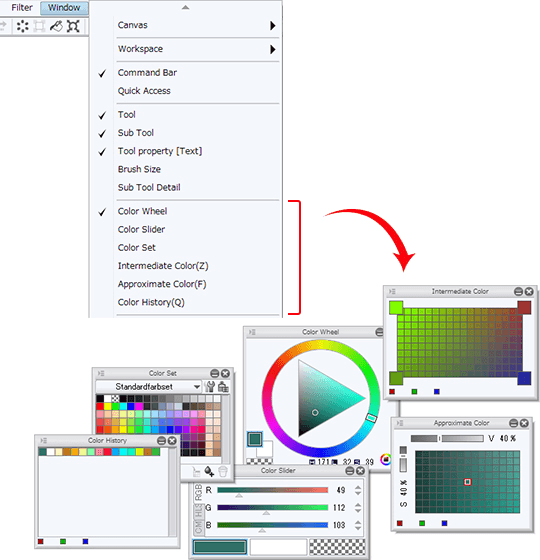 Utilizing The Color Palette Tool Settings Coloring 6 By