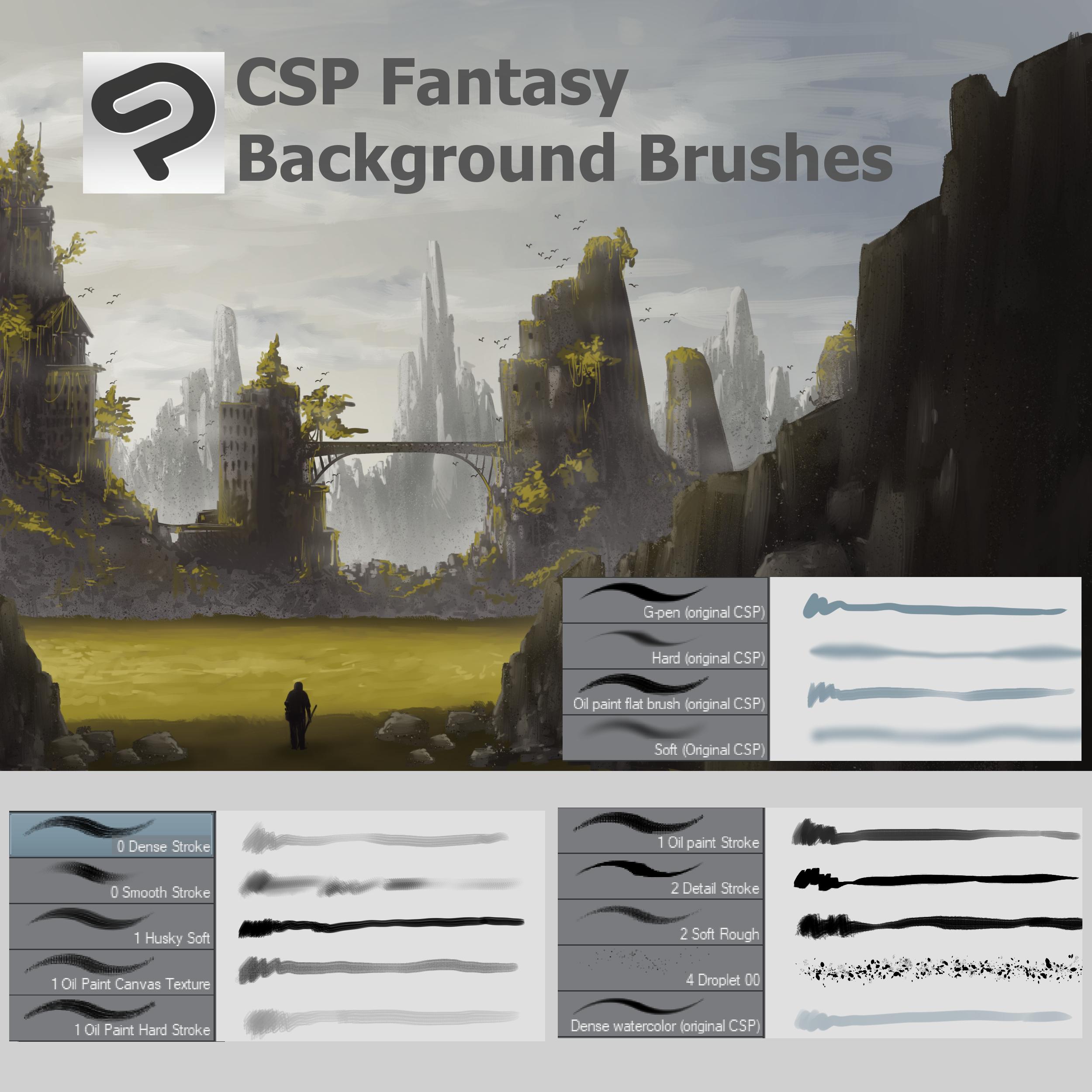 Fantasy Brush Set Download Concept Art 2 By Awanndus