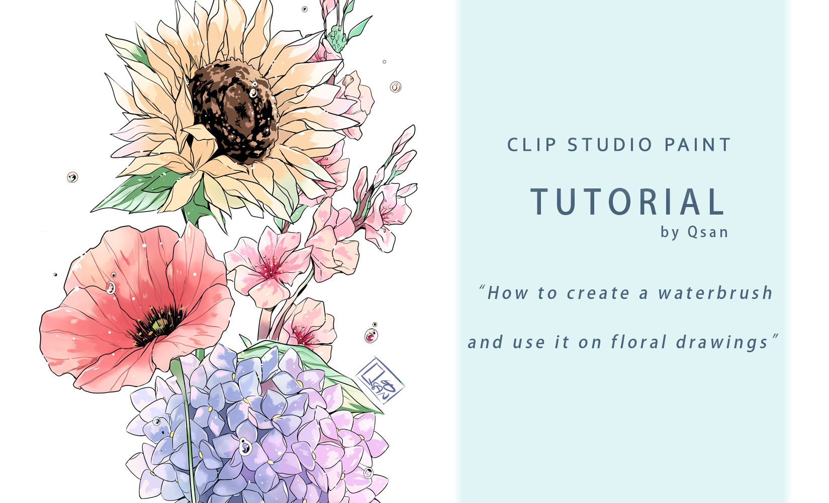 How To Create A Waterbrush And Use It On Floral Drawings