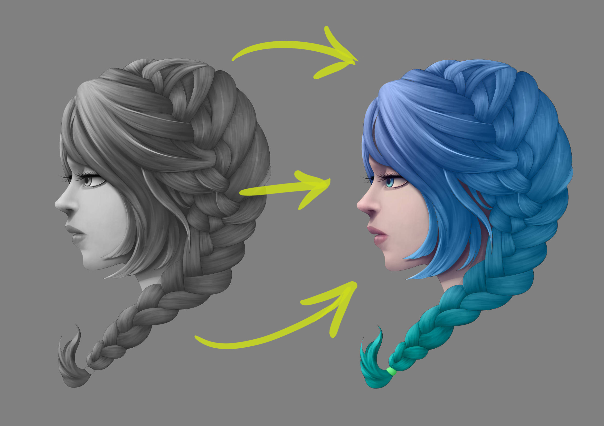 Coloring The Greyscale Gradient Map Contour Line Paint By Hatzeldawn Clip Studio Tips