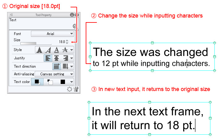 """How to use text tools (Settings) """"Speech balloons/text #2"""