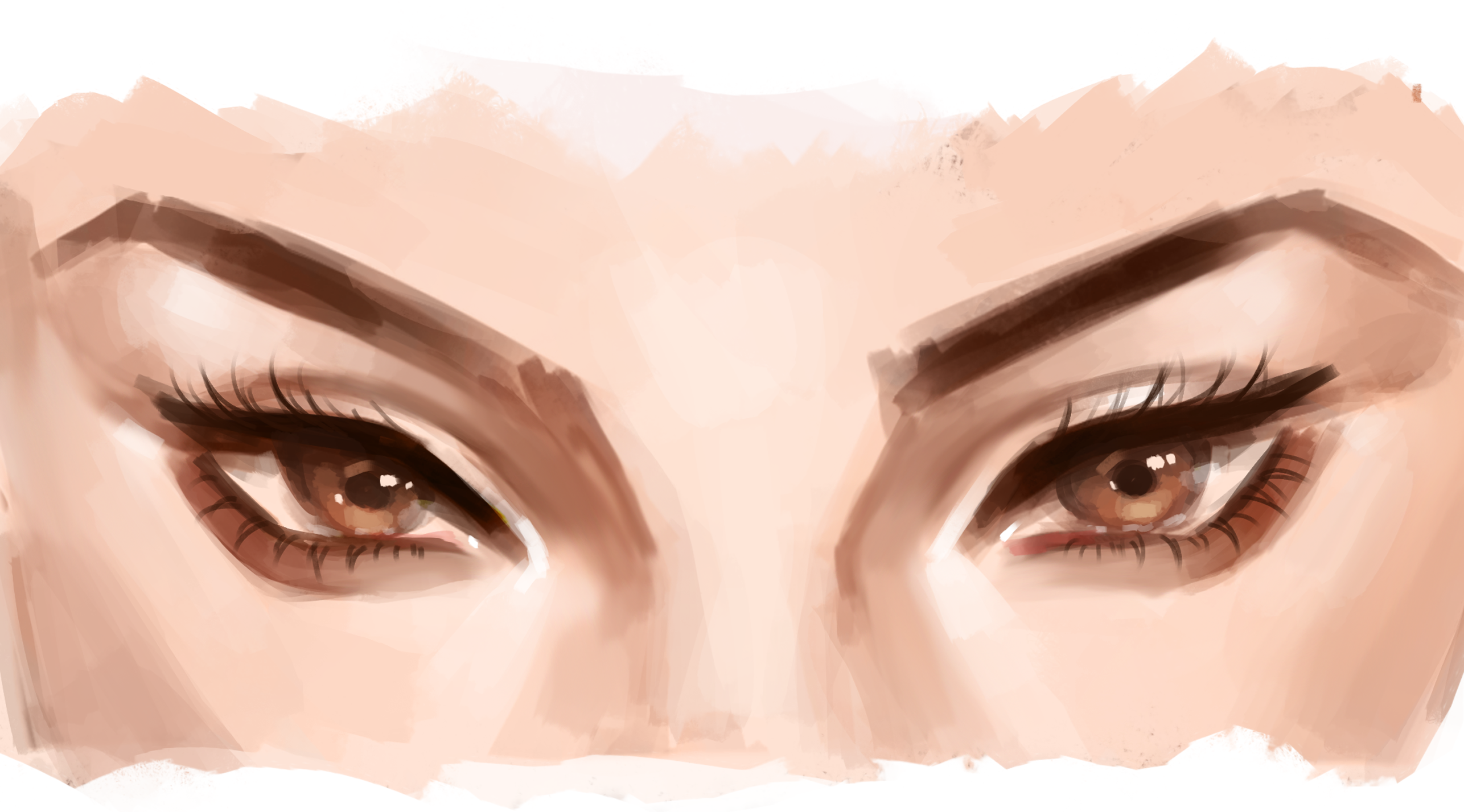 How To Draw Semi Realistic Eyes With Oil Watercolor Style By Akylha Clip Studio Tips