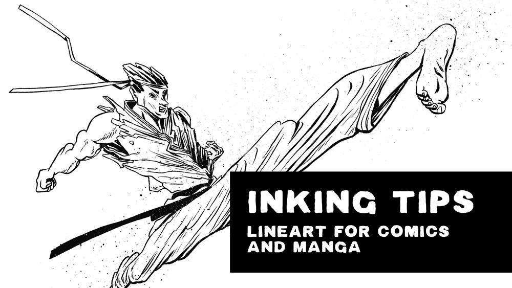 Inking Tips Line Art For Comics And Manga By Dropthedrawings Clip Studio Tips