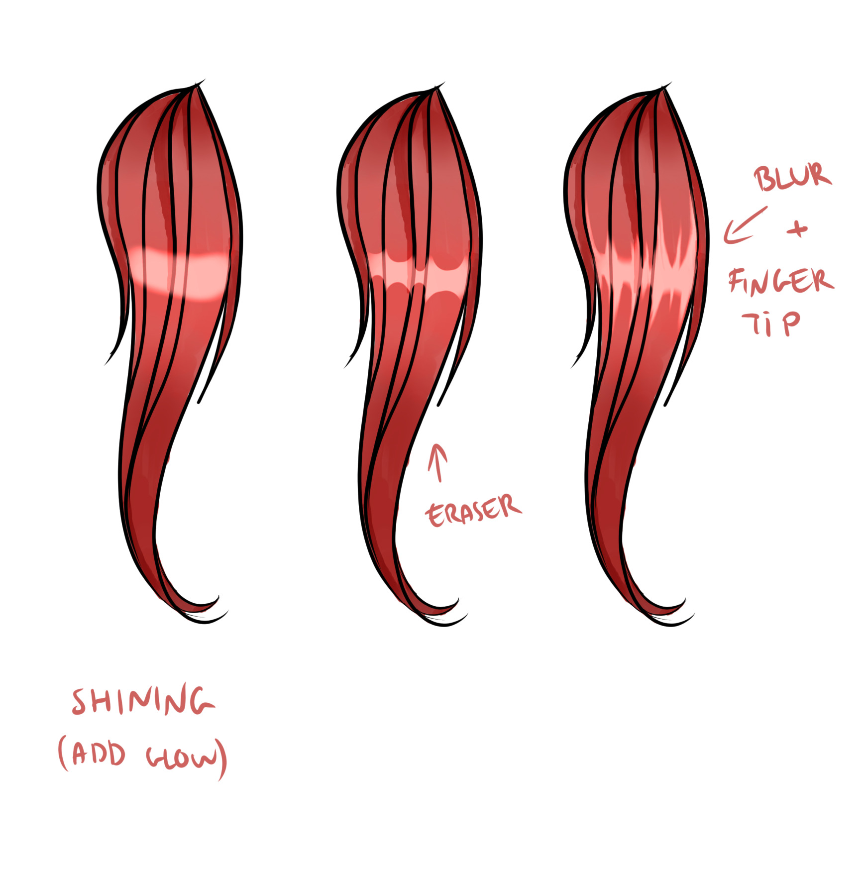 How To Shade Anime Hair By Moemie Clip Studio Tips