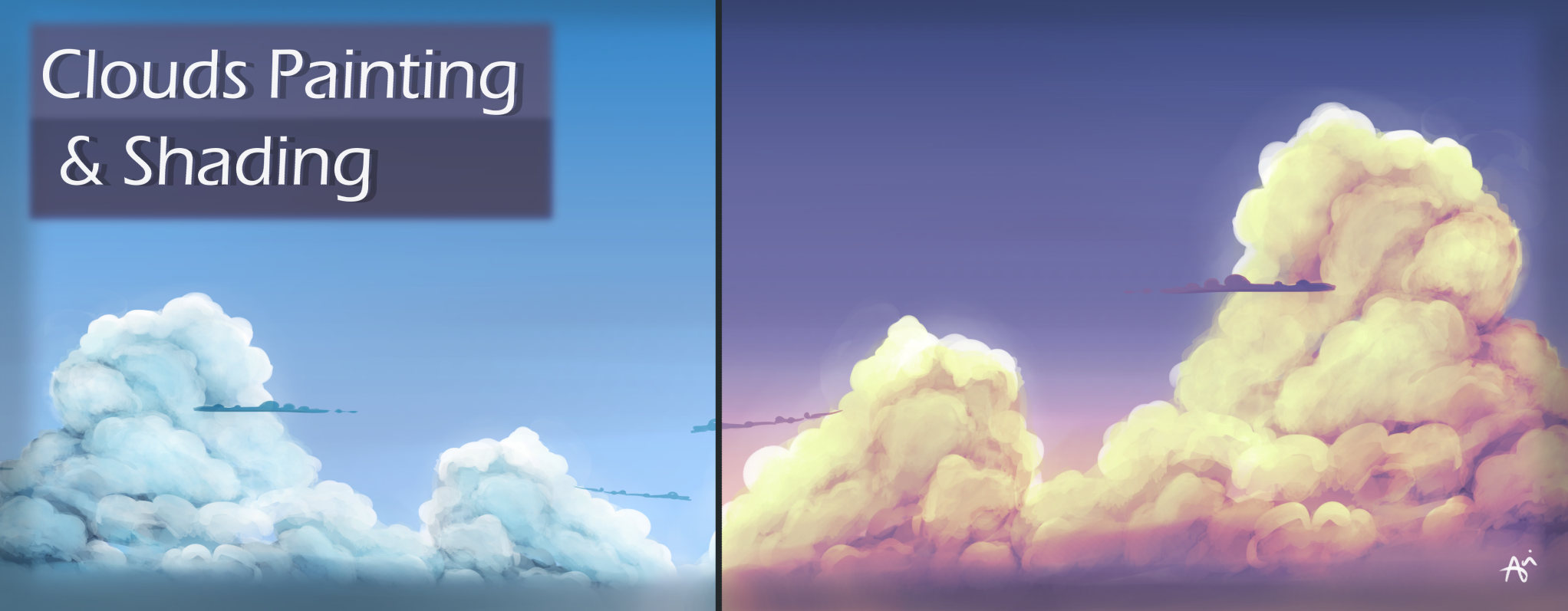How To Paint Shade Clouds Video By Anasofoz Clip Studio Tips