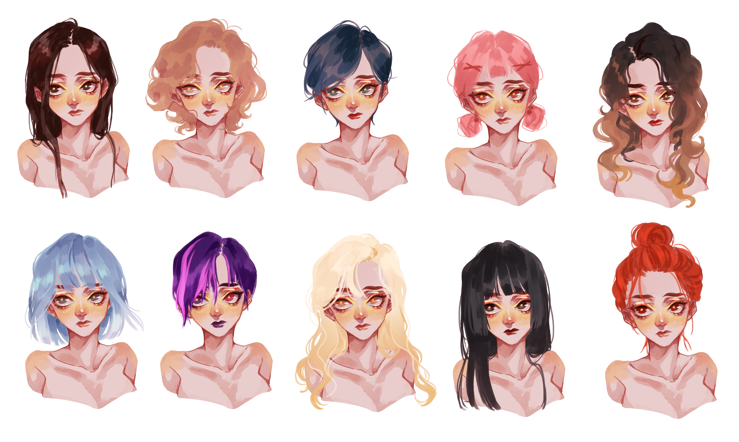 All About Hair Create A Suitable Hairstyle For Your Oc Painting Tutorial 1 By Tokyolondon Clip Studio Tips