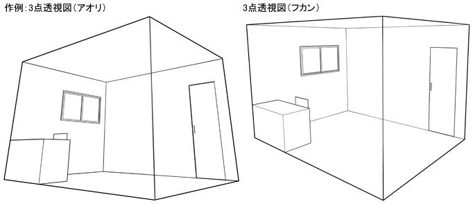 パース定規で透視図を描く -パース定規基本編2-