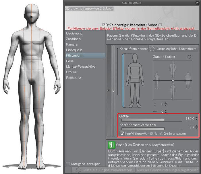 Verwenden von 3D-Zeichenfiguren: Körperformen anpassen [3D ...
