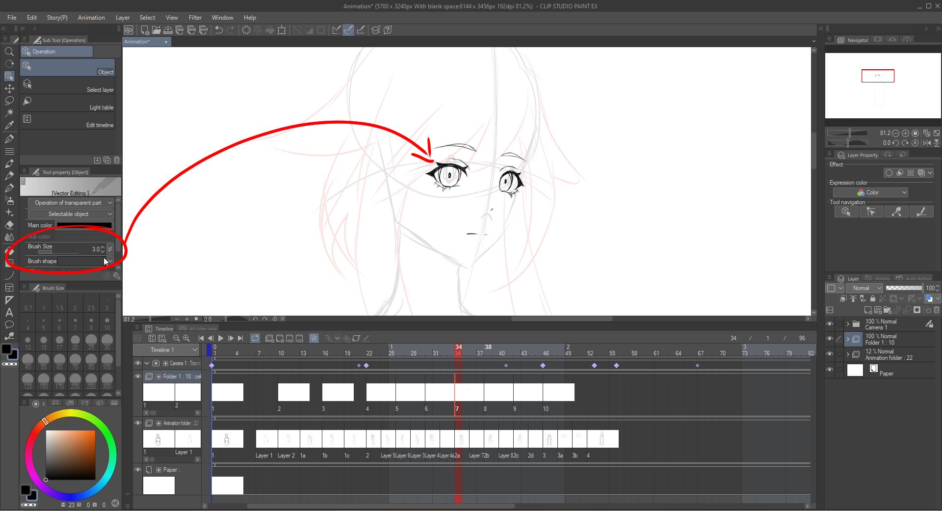 Line art for animation by miakia - CLIP STUDIO TIPS