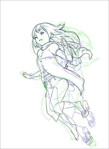 中割りの基本 うごくイラストの作り方 描き方 2 By