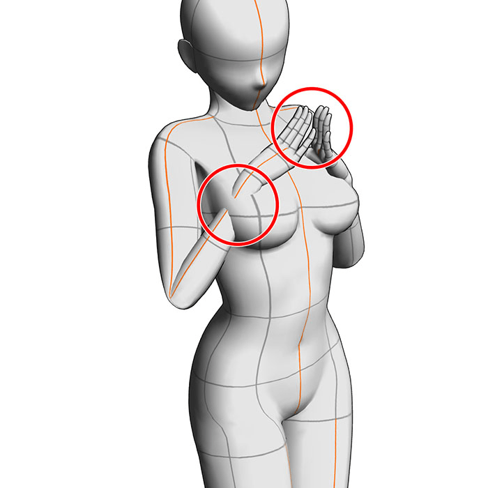 "Using 3D Drawing Figures: Adjusting the Body Shape ""3D controls #2"