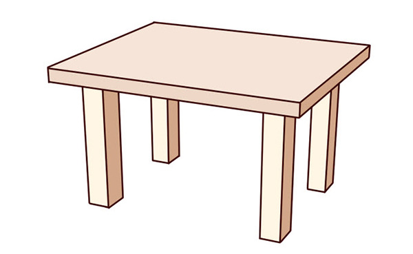 Dessin En Perspective Dessin De Tables Aux Pieds Varies Avec Une